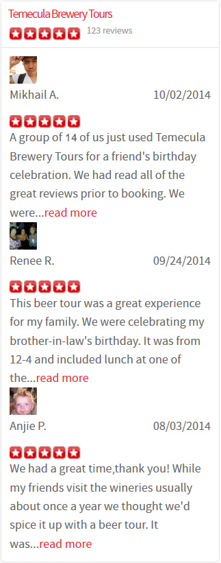Temecula Brewery Tours Yelp